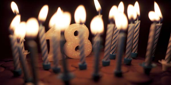 Celebre seus 18 anos