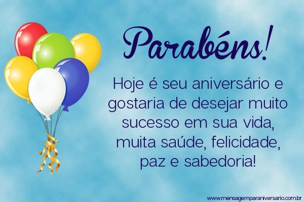 Feliz Aniversário Para uma Colega do Trabalho balões